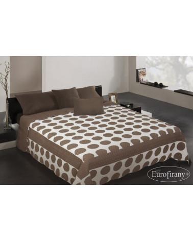 Narzuta na łóżko KOŁA Eurofirany Brązowo-Biała