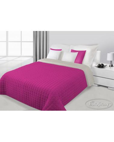 Narzuta na łóżko welurowa PAULA Eurofirany Amarant+Stal dwa rozmiary  Narzuta PAULA Eurofirany