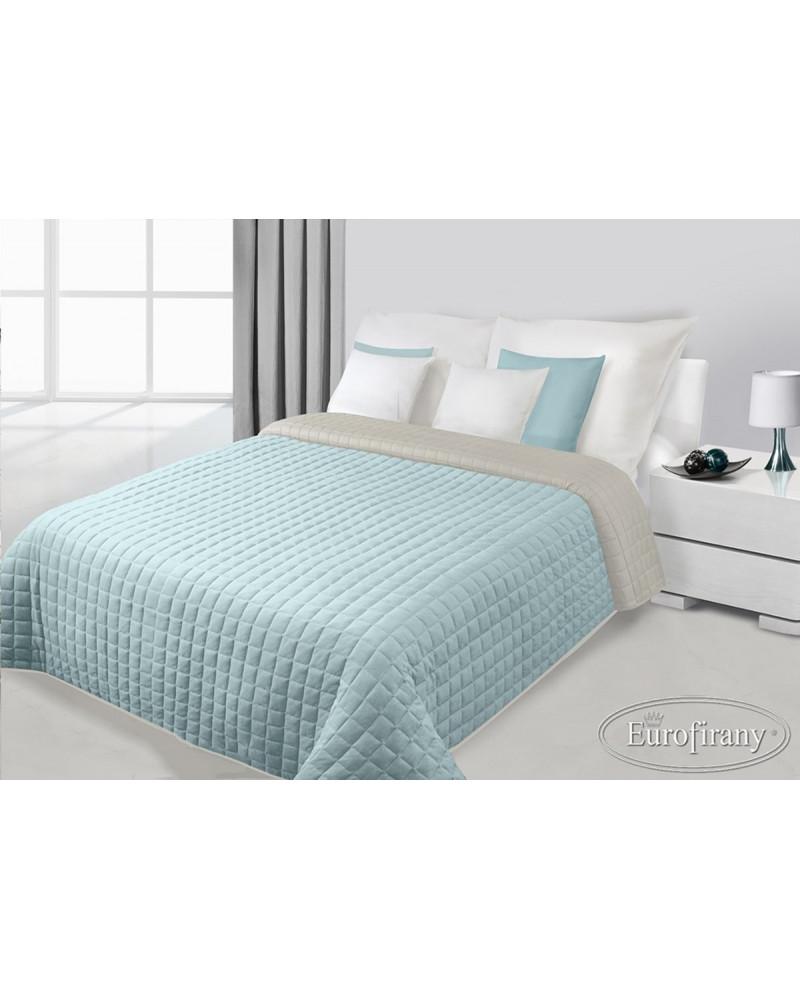 Narzuta na łóżko welurowa PAULA Eurofirany Błękit+Stal dwa rozmiary Narzuta PAULA Eurofirany