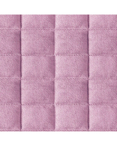 Narzuta na łóżko welurowa PAULA Eurofirany Róż+Stal dwa rozmiary  Narzuta PAULA Eurofirany