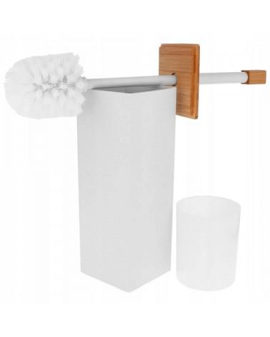 Szczotka do toalety wolnostojąca biała Brunbeste
