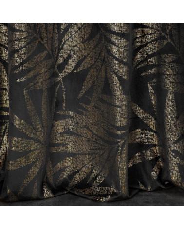 Zasłona gotowa welurowa 140x250 ELENA Eurofirany Czarny