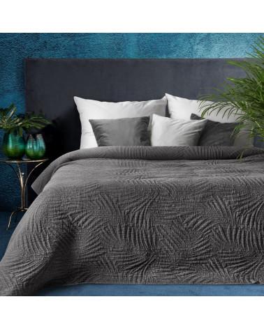 Narzuta na łóżko 220x240 STONE Eurofirany Stalowa Narzuta na łóżko 220x240 STONE Eurofirany Stalowa