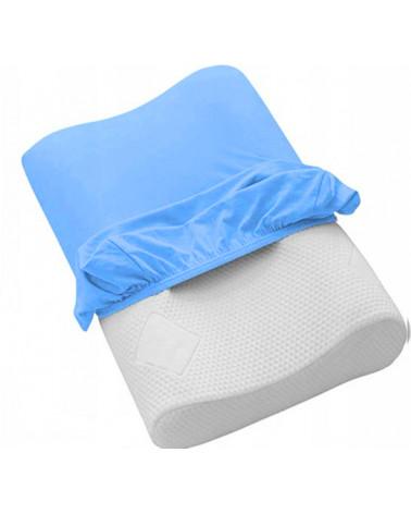 Poszewka na poduszkę profilowaną,ortopedyczną niebieska