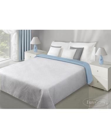 Narzuta na łóżko welurowa FILIP Eurofirany J.Niebieski+Srebrny dwa rozmiary Narzuta FILIP Eurofirany