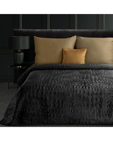 Narzuta na łóżko 280x260 SALVIA7 Eurofirany Czarna