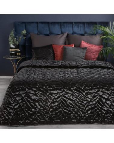Narzuta na łóżko KRISTIN Eurofirany Czarna dwa rozmiary
