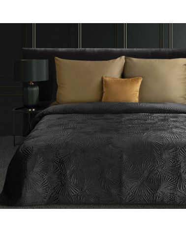 Narzuta na łóżko 220x240 MUSA Eurofirany Czarna