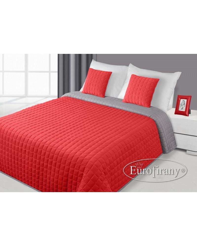 Narzuta na łóżko welurowa PAULA Eurofirany Czerwony dwa rozmiary Narzuta welurowa na łóżko PAULA Eurofirany Czerwony