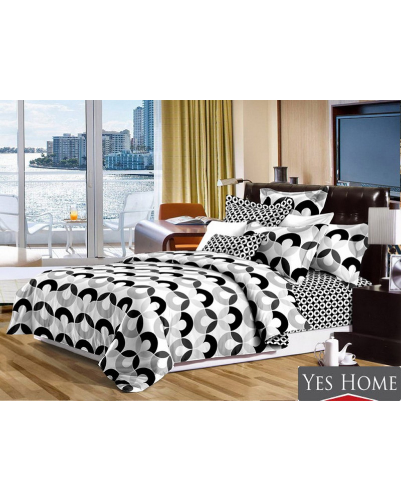 Narzuta na łóżko 220x240 czarno biała + poszewki 40x40 Narzuta na łóżko czarno biała+ poszewki