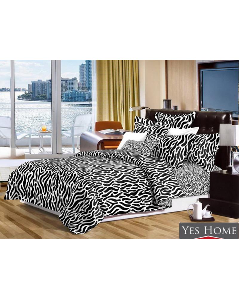 Narzuta na łóżko czarno biała + poszewki 40x40 dwa rozmiary Narzuta na łóżko czarno biała+ poszewki