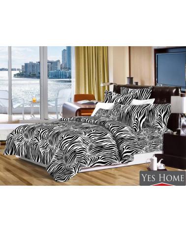 Narzuta na łóżko czarno biała
