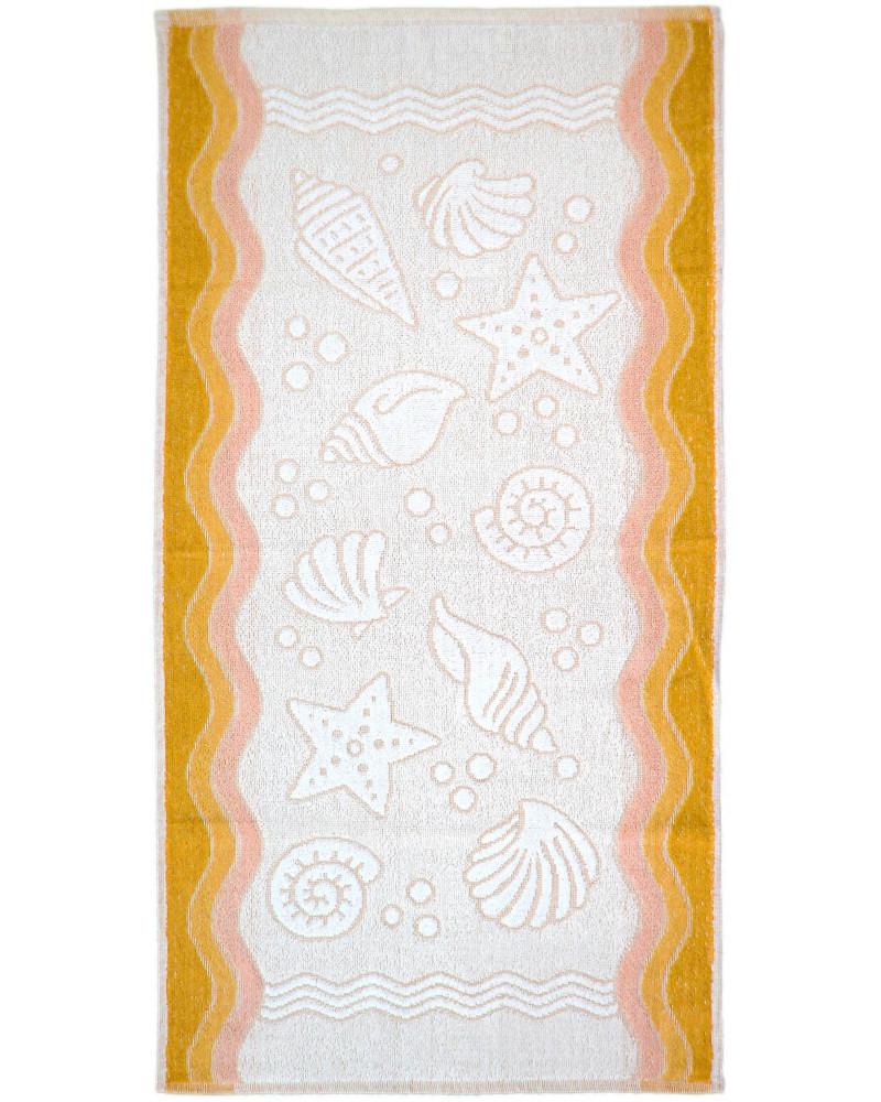 Ręcznik frotte GRENO FLORA OCEAN żółty dwa rozmiary Ręcznik  GRENO FLORA OCEAN