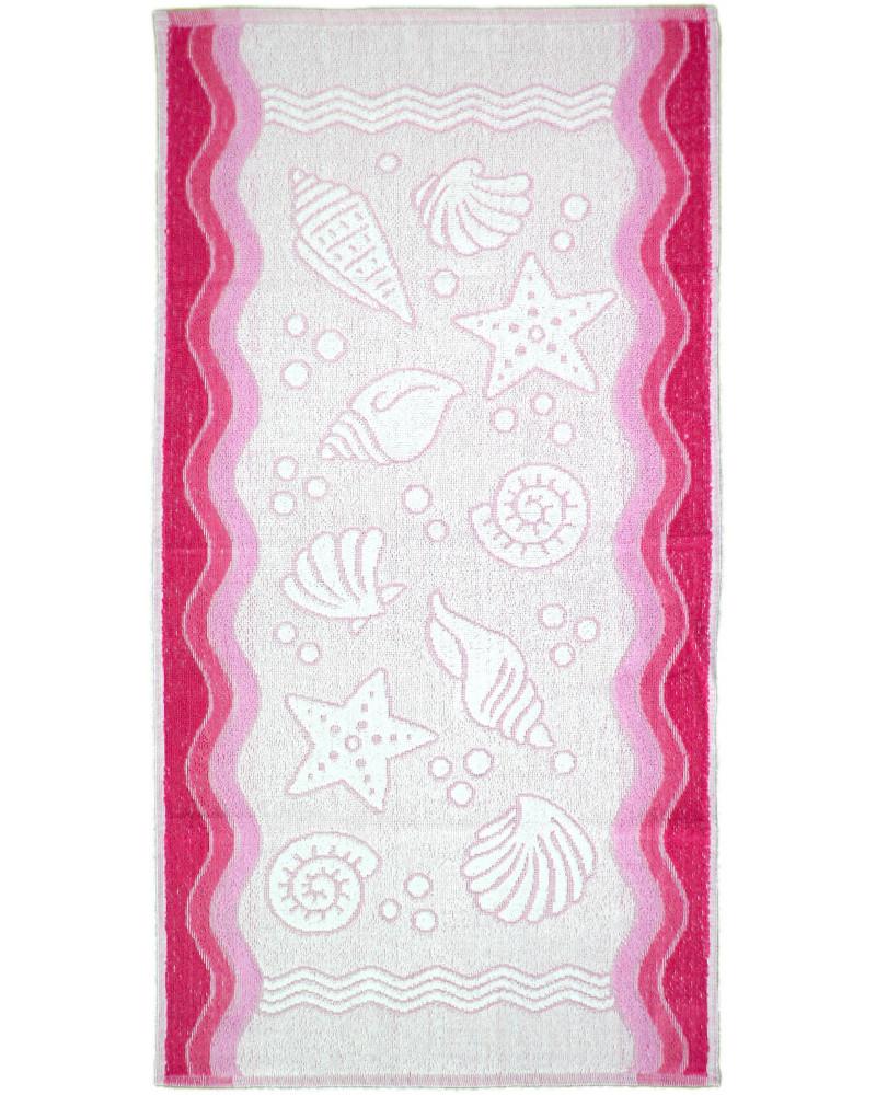 Ręcznik frotte GRENO FLORA OCEAN różowy dwa rozmiary Ręcznik  GRENO FLORA OCEAN
