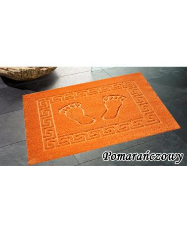 Dywanik łazienkowy 50x70 antypoślizgowy pomarańczowy