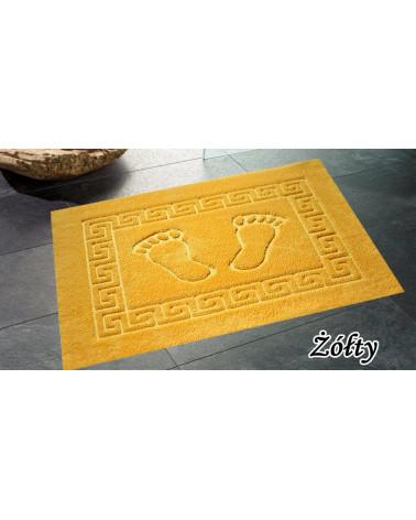 Dywanik łazienkowy 50x70 antypoślizgowy żółty